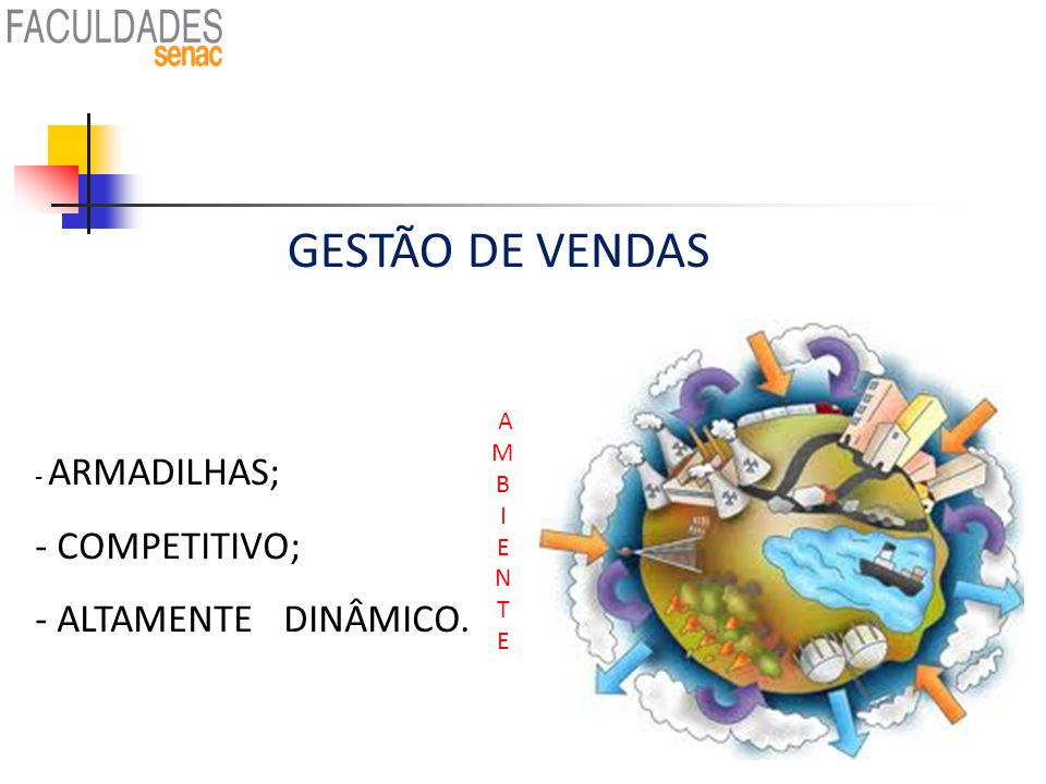 GESTÃO DE VENDAS COMPETITIVO; ALTAMENTE DINÂMICO. A M ARMADILHAS; B I