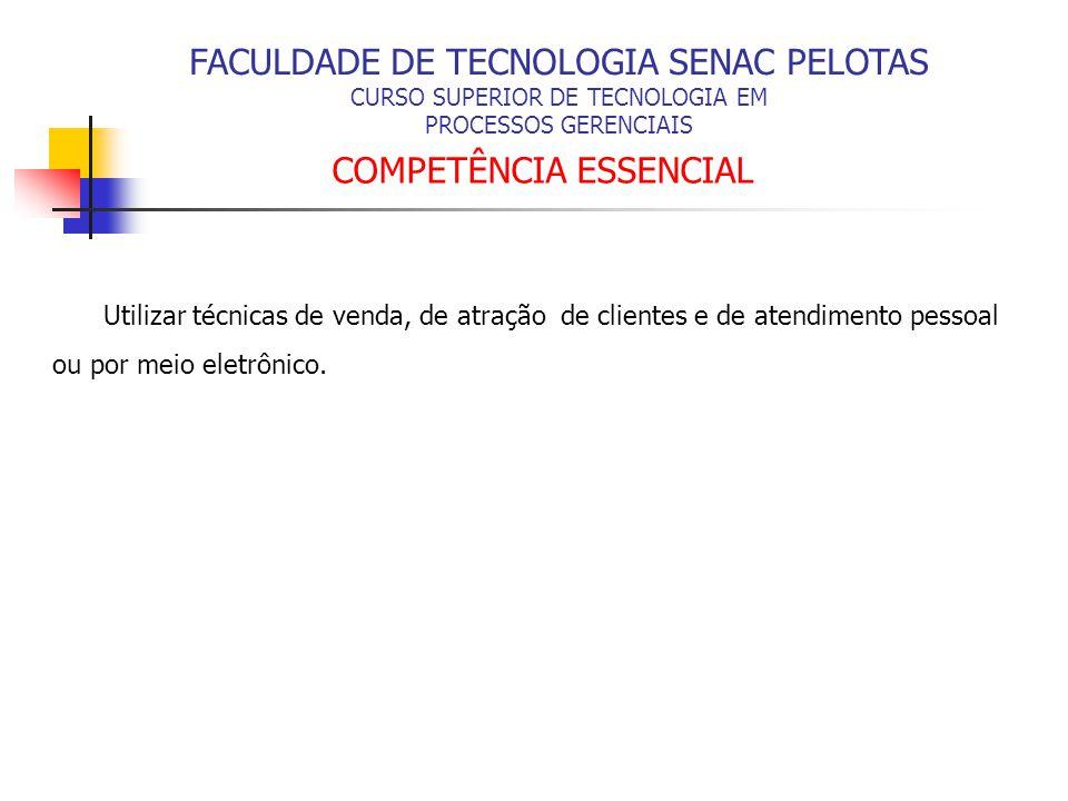 FACULDADE DE TECNOLOGIA SENAC PELOTAS