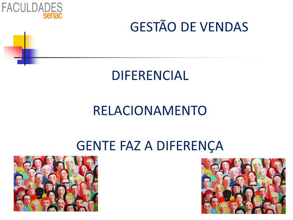 GESTÃO DE VENDAS DIFERENCIAL RELACIONAMENTO GENTE FAZ A DIFERENÇA