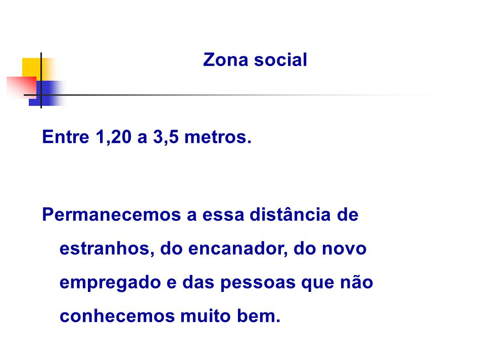 Zona social Entre 1,20 a 3,5 metros.