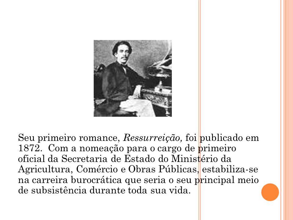 Seu primeiro romance, Ressurreição, foi publicado em 1872