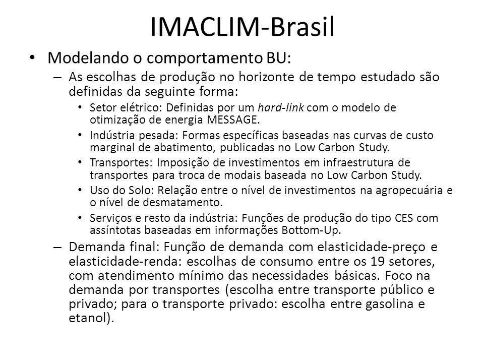 IMACLIM-Brasil Modelando o comportamento BU: