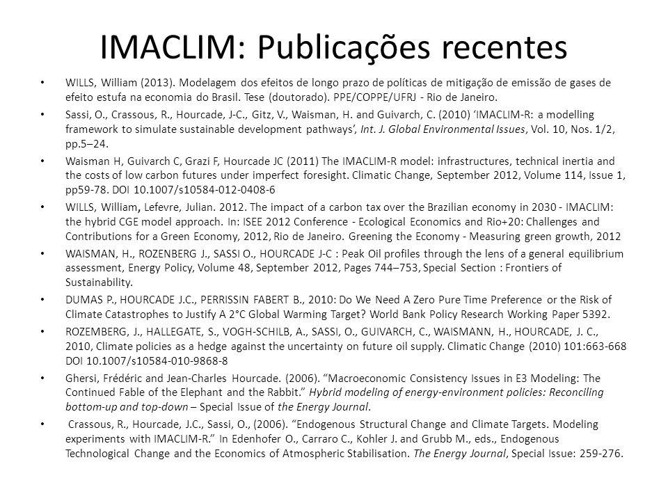 IMACLIM: Publicações recentes
