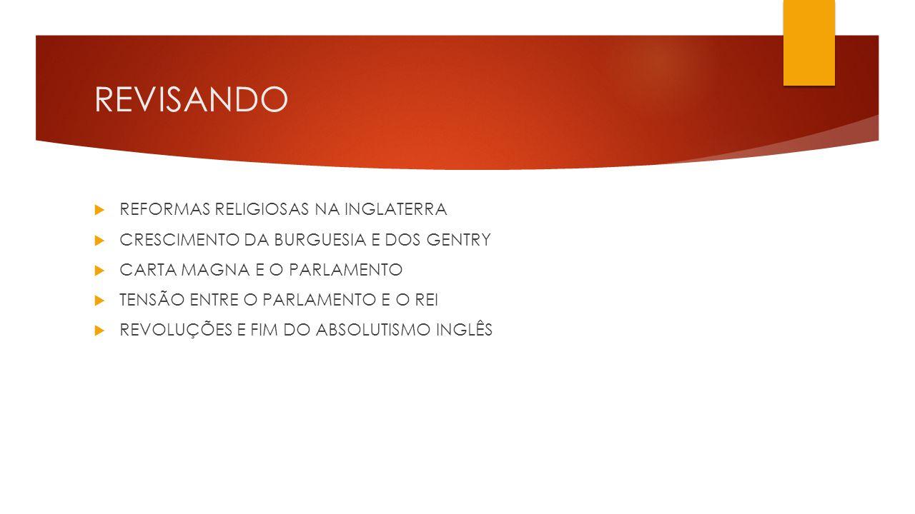 REVISANDO REFORMAS RELIGIOSAS NA INGLATERRA