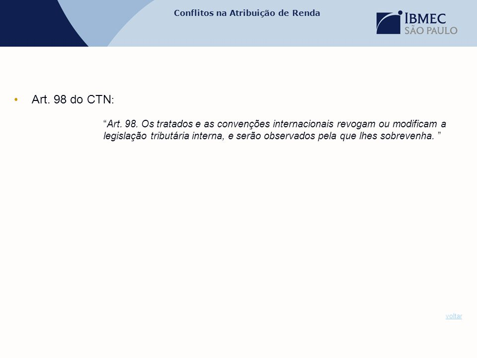 Art. 98 do CTN: