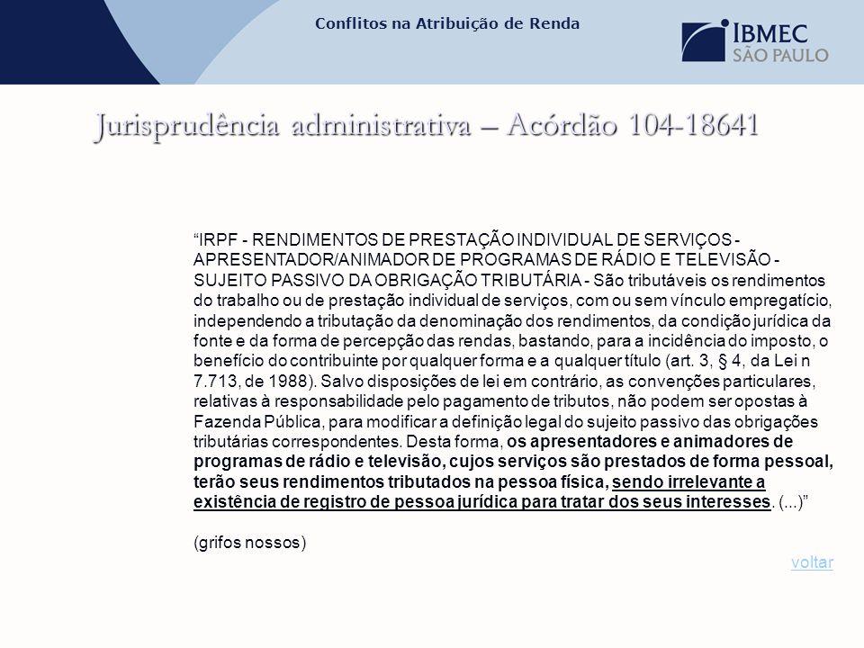 Jurisprudência administrativa – Acórdão 104-18641