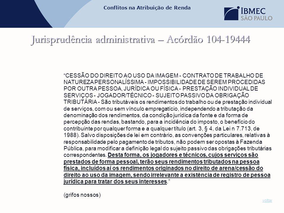 Jurisprudência administrativa – Acórdão 104-19444