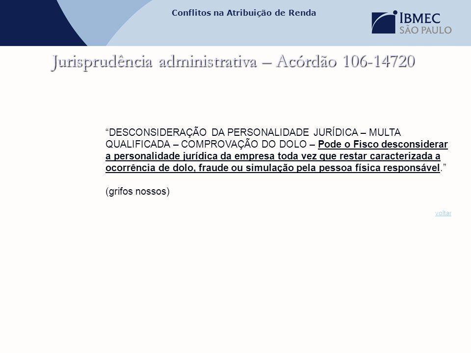 Jurisprudência administrativa – Acórdão 106-14720
