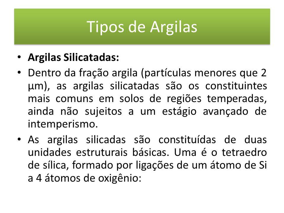 Tipos de Argilas Argilas Silicatadas: