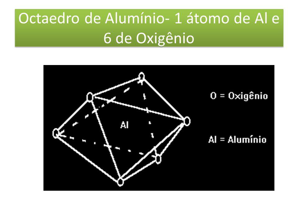 Octaedro de Alumínio- 1 átomo de Al e 6 de Oxigênio
