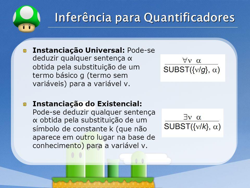 Inferência para Quantificadores