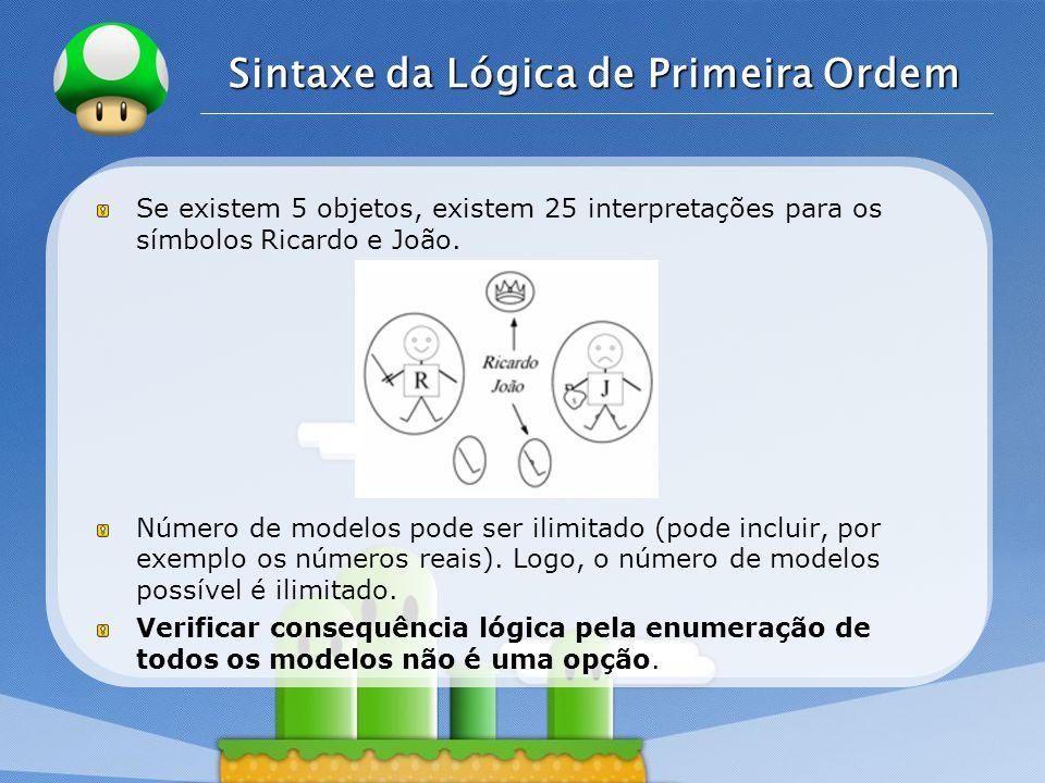 Sintaxe da Lógica de Primeira Ordem