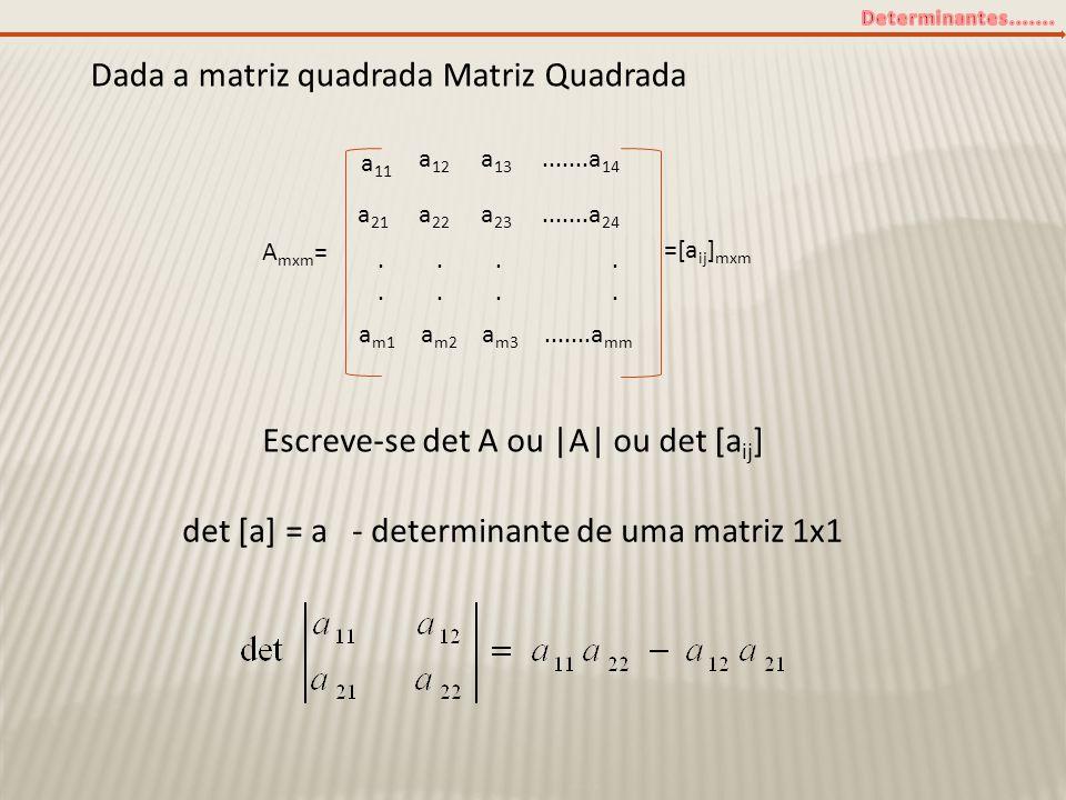 Dada a matriz quadrada Matriz Quadrada