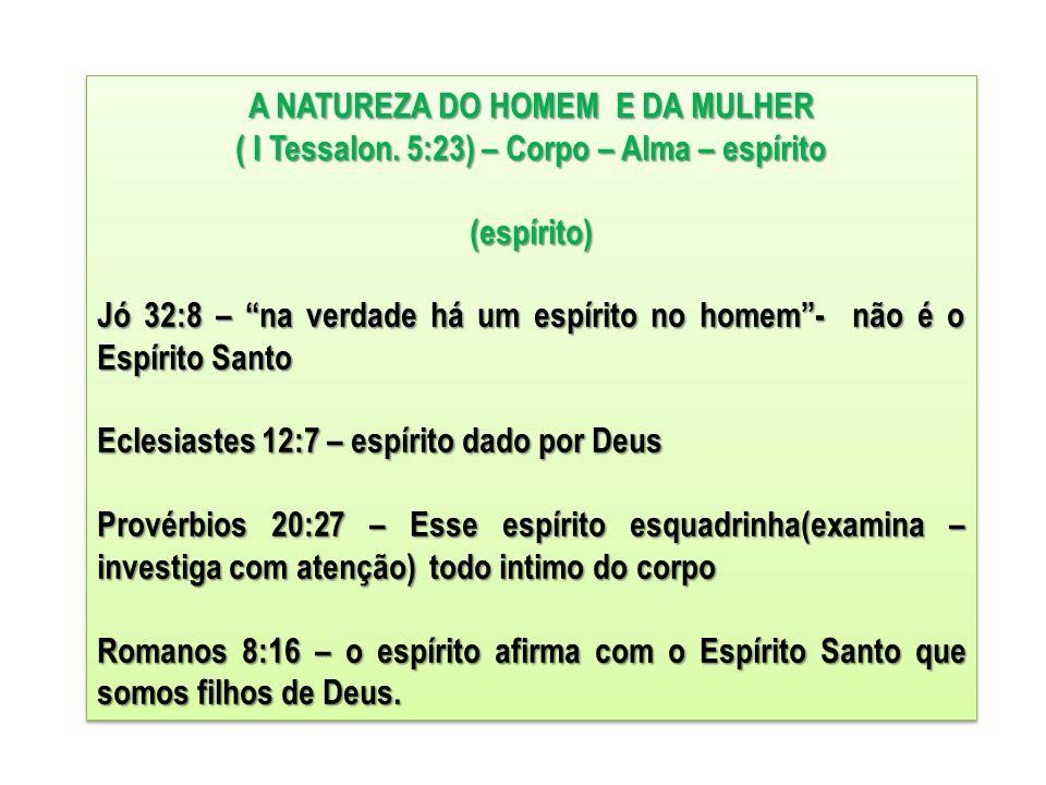 A NATUREZA DO HOMEM E DA MULHER