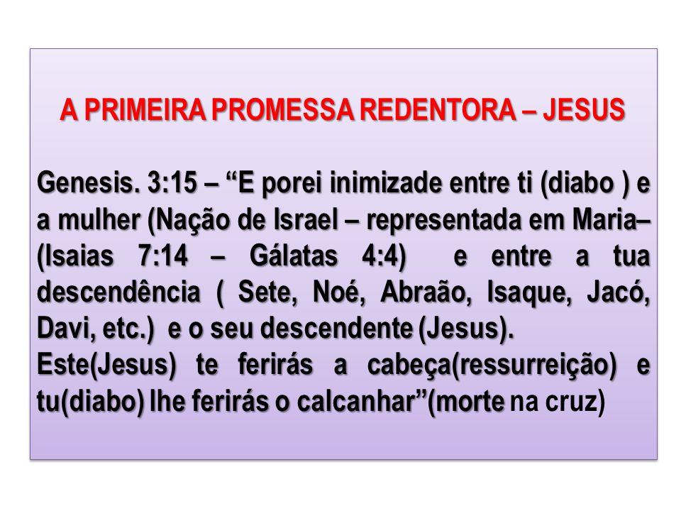 A PRIMEIRA PROMESSA REDENTORA – JESUS