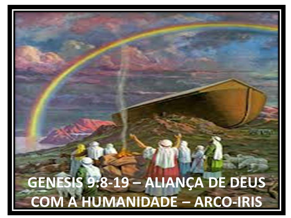 GENESIS 9:8-19 – ALIANÇA DE DEUS COM A HUMANIDADE – ARCO-IRIS