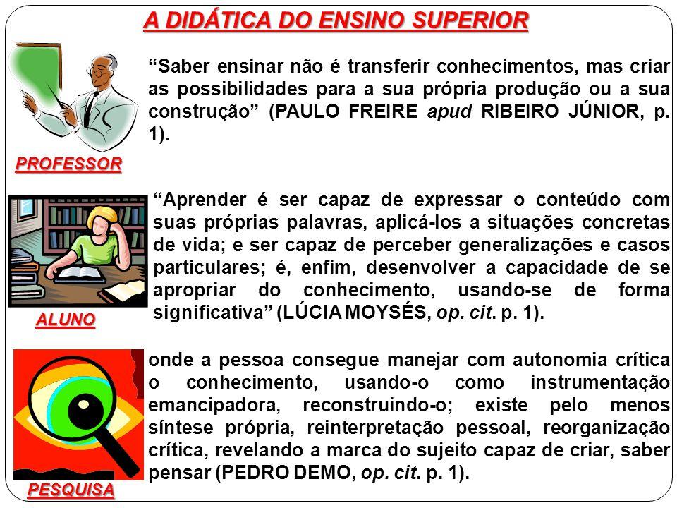 A DIDÁTICA DO ENSINO SUPERIOR