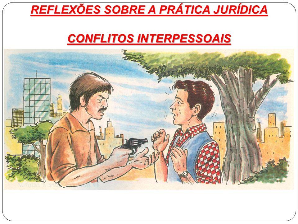 REFLEXÕES SOBRE A PRÁTICA JURÍDICA CONFLITOS INTERPESSOAIS