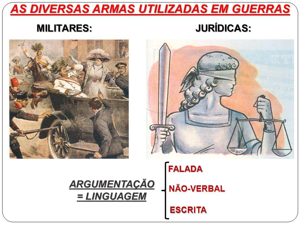 AS DIVERSAS ARMAS UTILIZADAS EM GUERRAS ARGUMENTAÇÃO = LINGUAGEM
