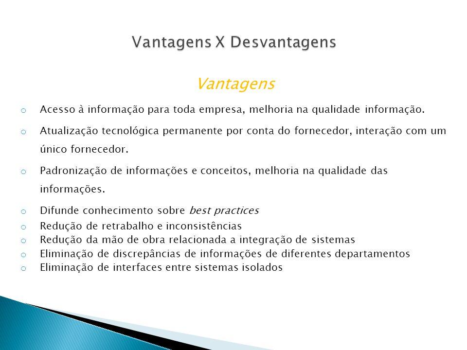 Vantagens X Desvantagens