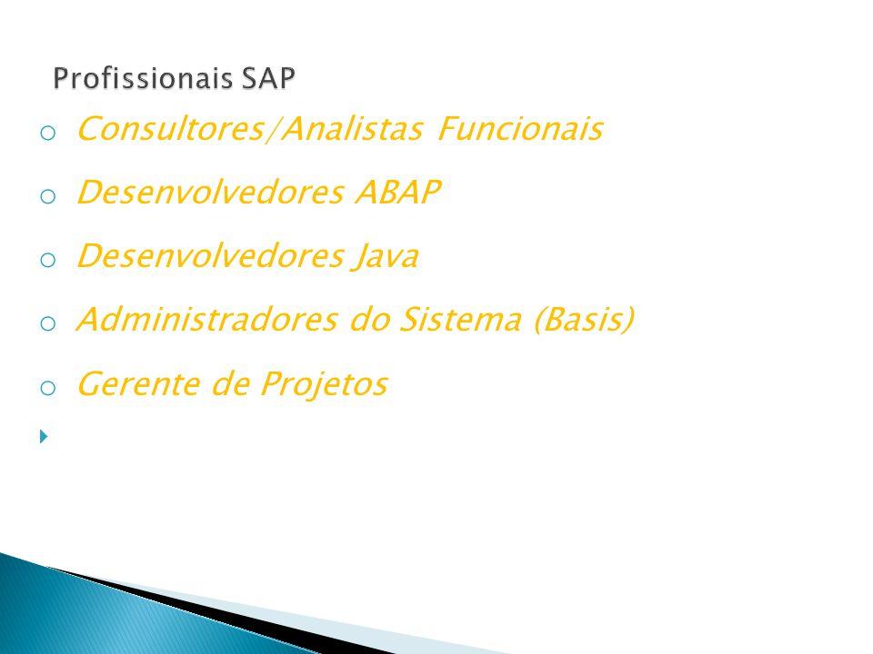 Consultores/Analistas Funcionais Desenvolvedores ABAP