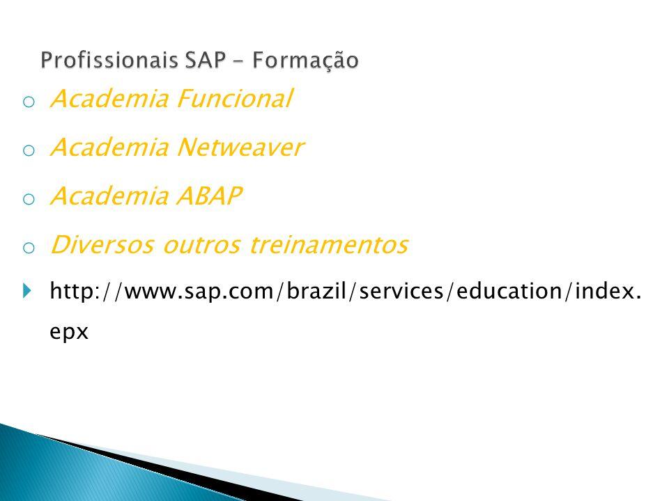 Profissionais SAP - Formação