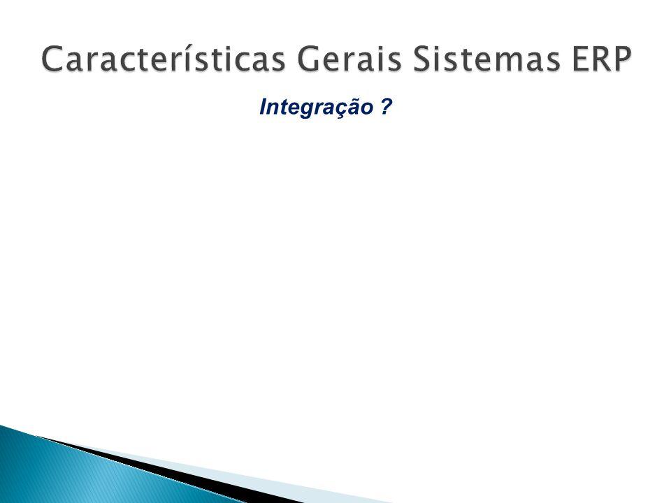 Características Gerais Sistemas ERP