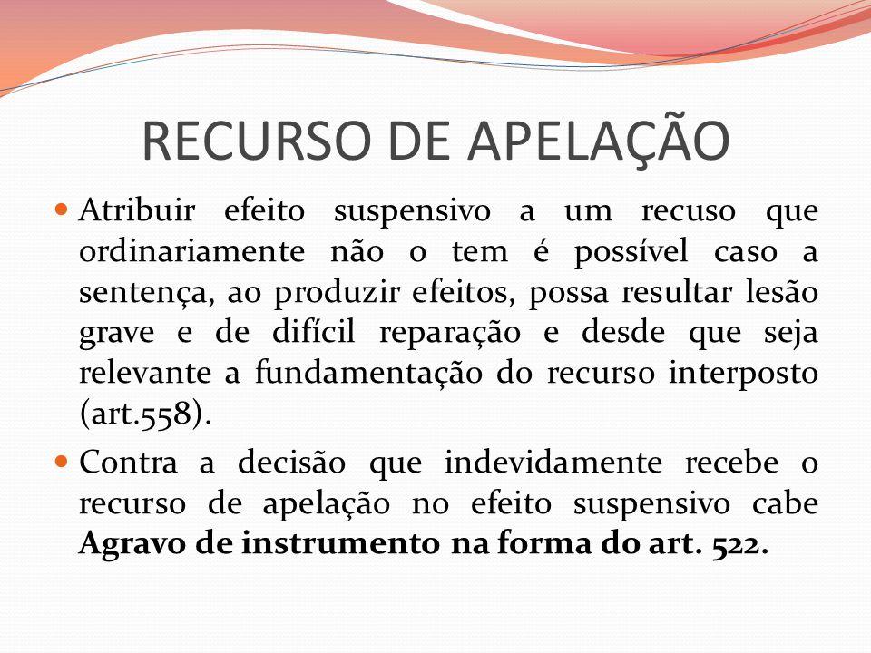 RECURSO DE APELAÇÃO