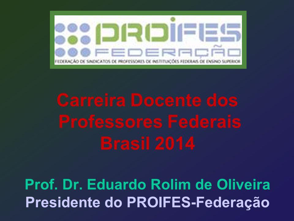 Carreira Docente dos Professores Federais Brasil 2014 Prof. Dr