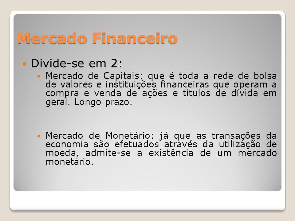 Mercado Financeiro Divide-se em 2: