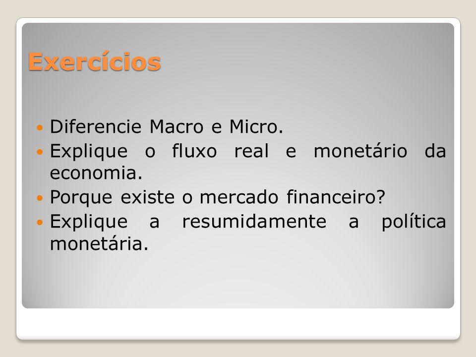 Exercícios Diferencie Macro e Micro.