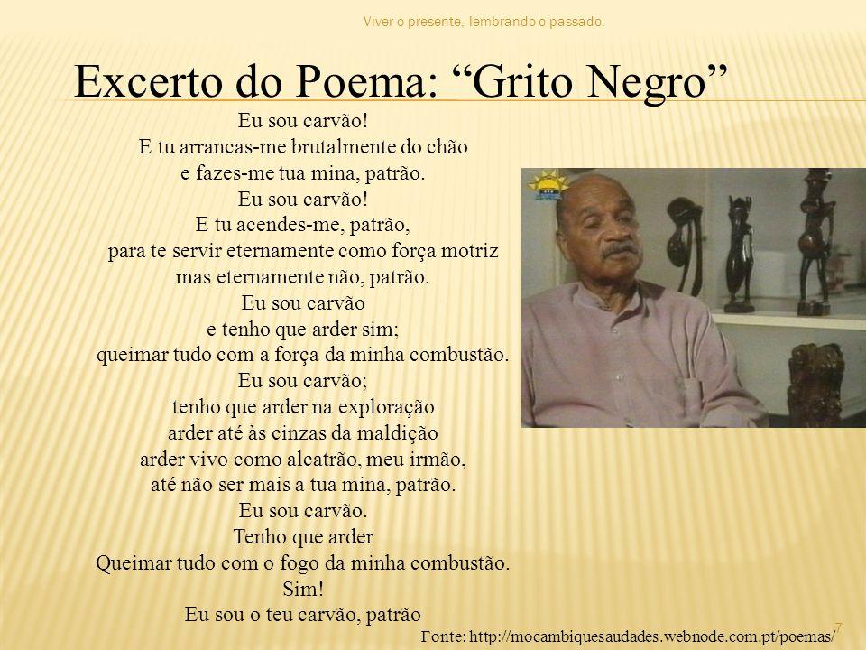 Excerto do Poema: Grito Negro