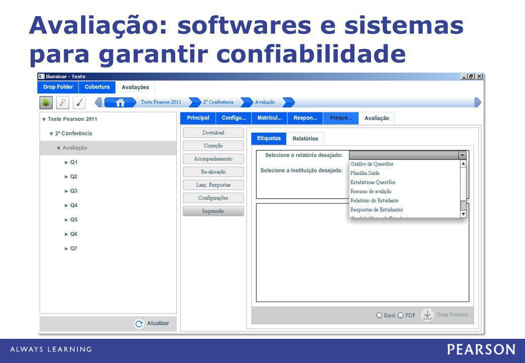Avaliação: softwares e sistemas para garantir confiabilidade