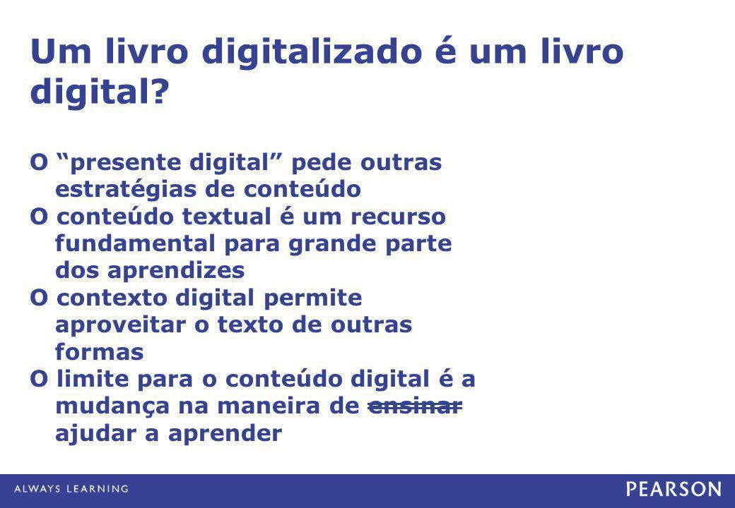 Um livro digitalizado é um livro digital