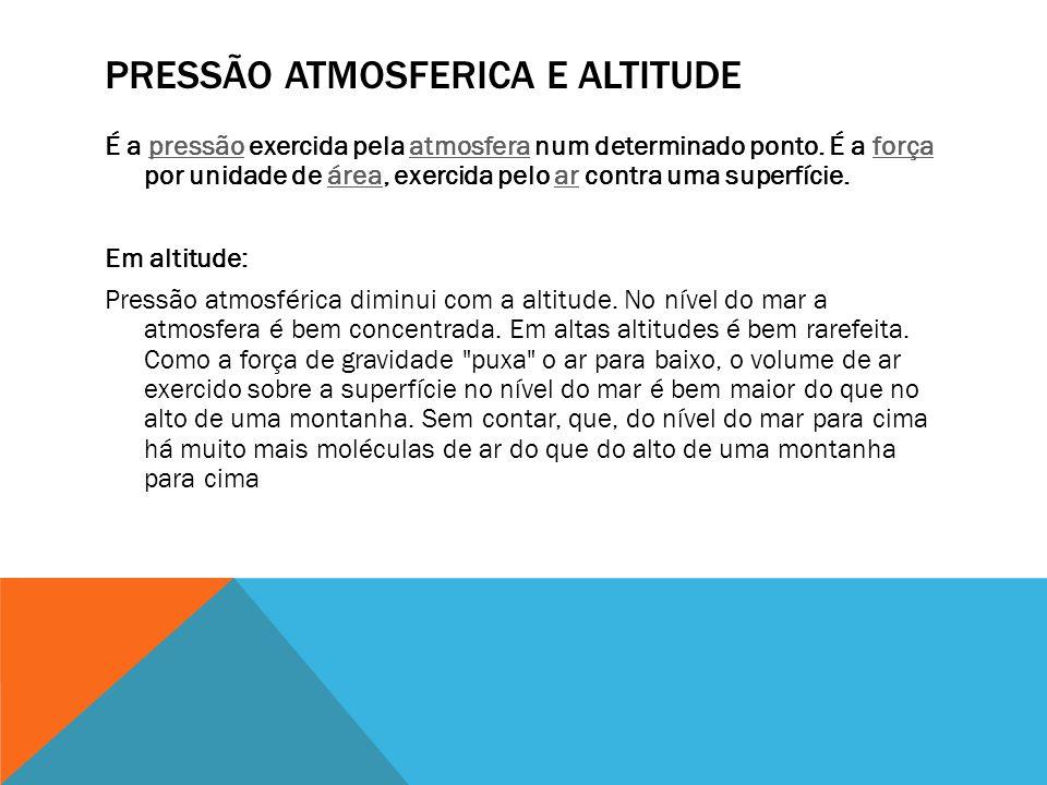 Pressão atmosferica e altitude