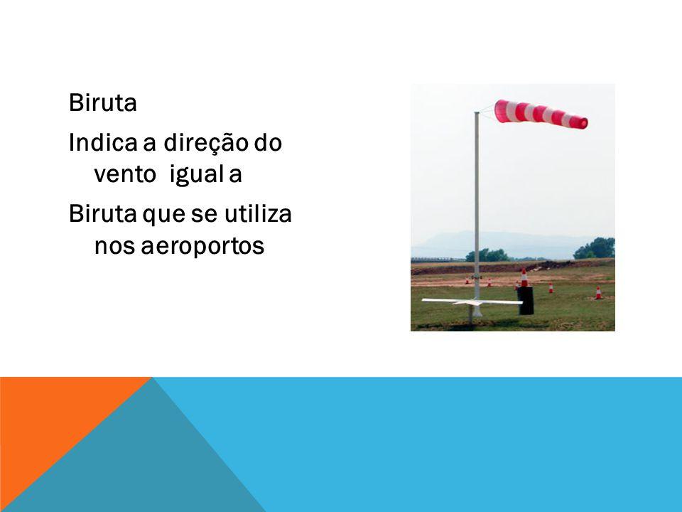 Biruta Indica a direção do vento igual a Biruta que se utiliza nos aeroportos