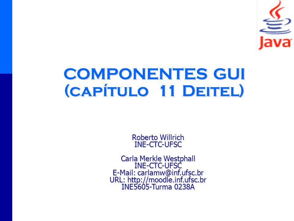 COMPONENTES GUI (capítulo 11 Deitel)