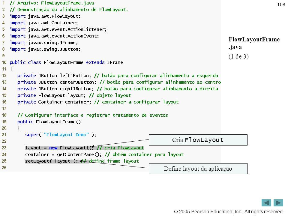 Define layout da aplicação