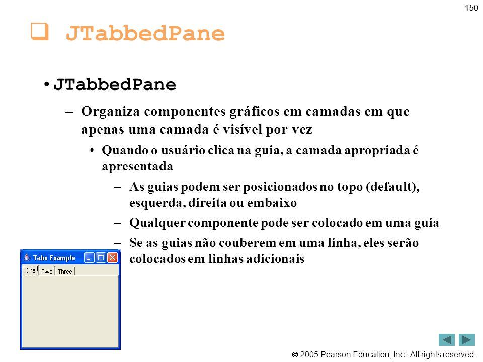 JTabbedPane JTabbedPane