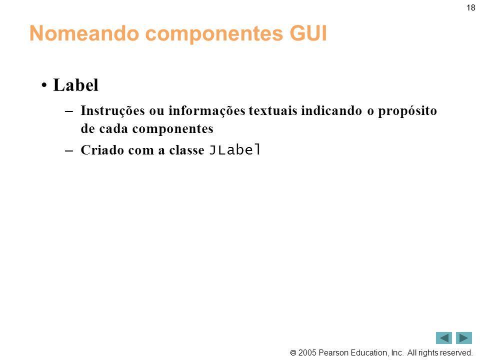 Nomeando componentes GUI
