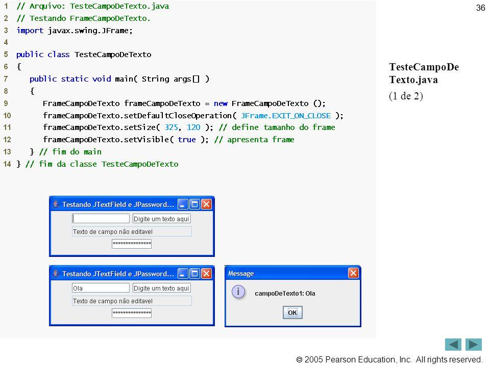 36 Outline TesteCampoDe Texto.java (1 de 2)