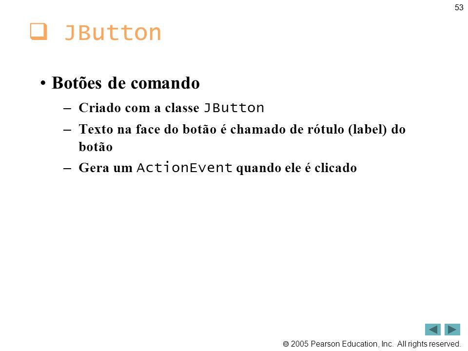 JButton Botões de comando Criado com a classe JButton