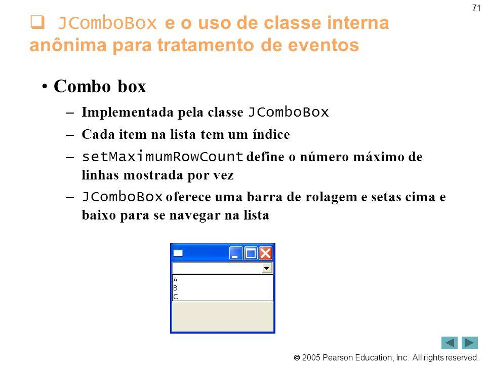 JComboBox e o uso de classe interna anônima para tratamento de eventos