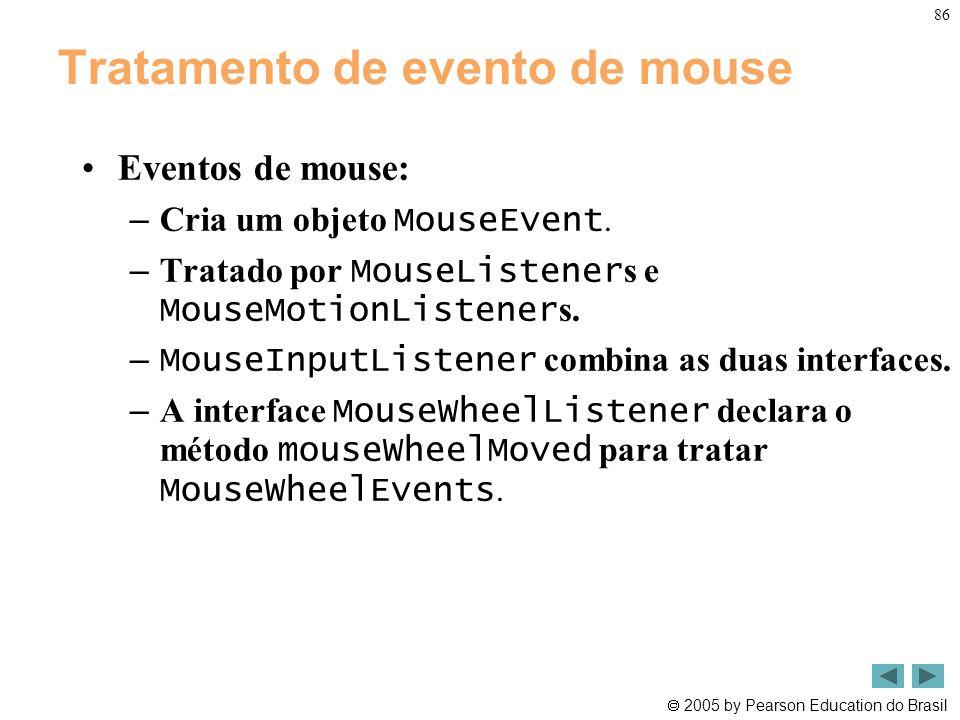 Tratamento de evento de mouse