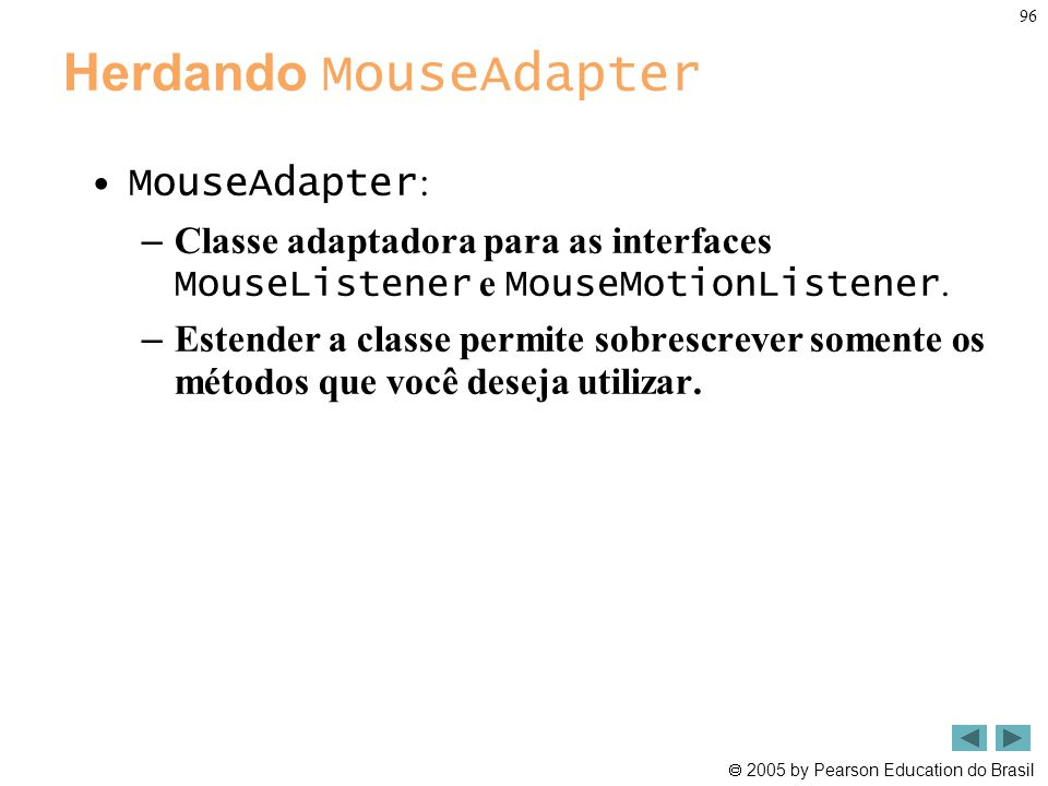 Herdando MouseAdapter