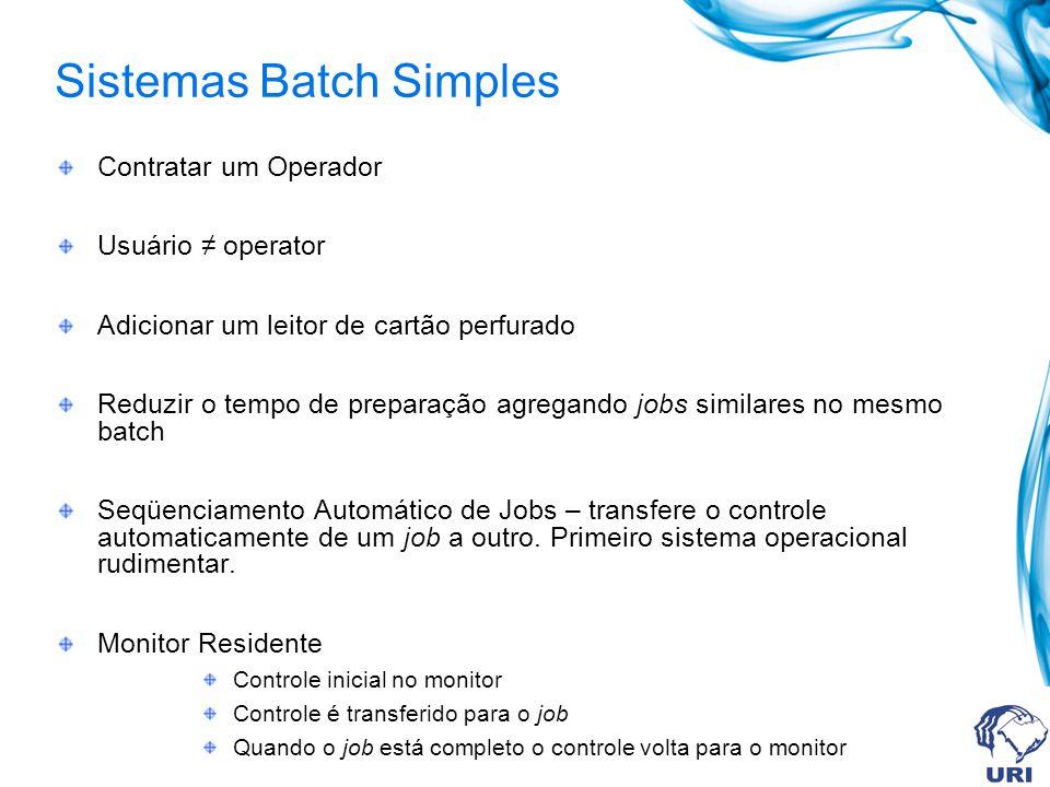 Sistemas Batch Simples