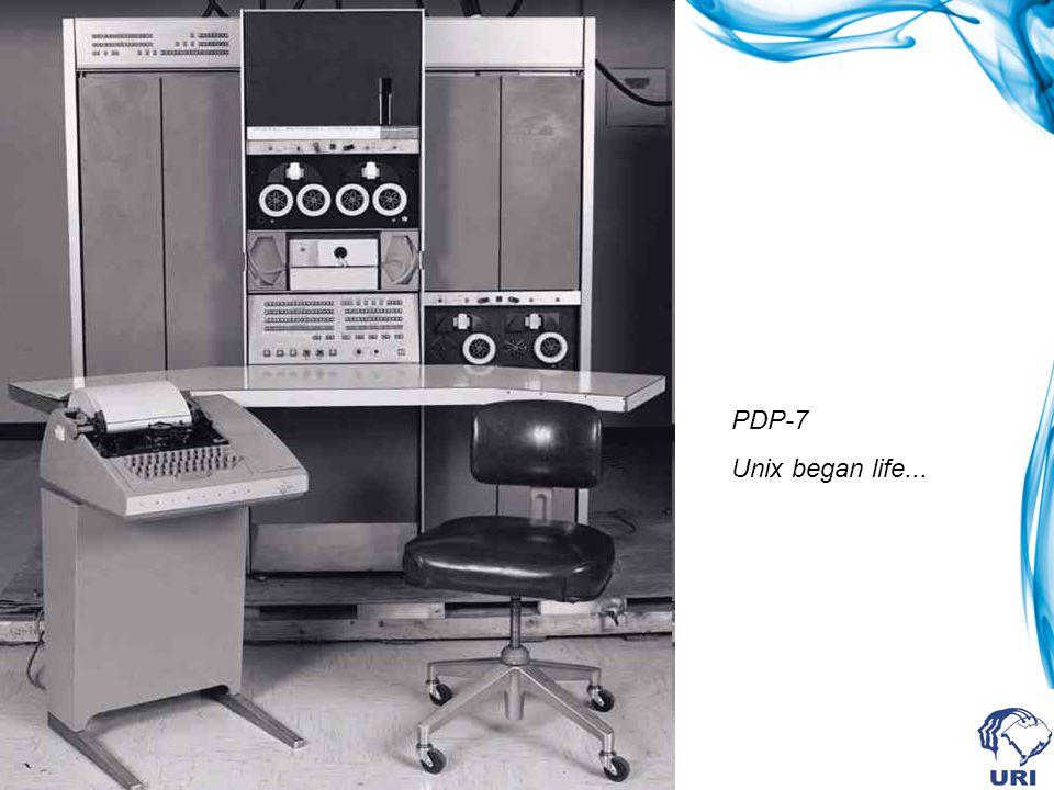 PDP-7 Unix began life...