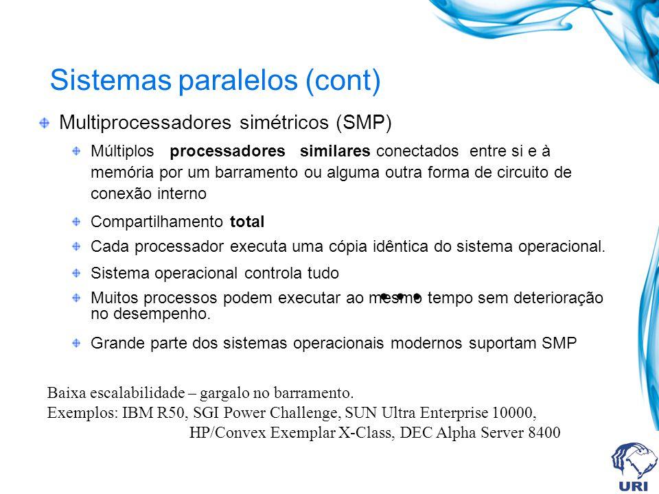 Sistemas paralelos (cont)