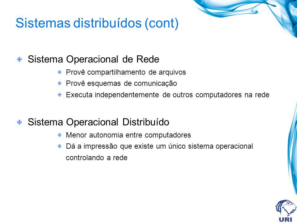 Sistemas distribuídos (cont)