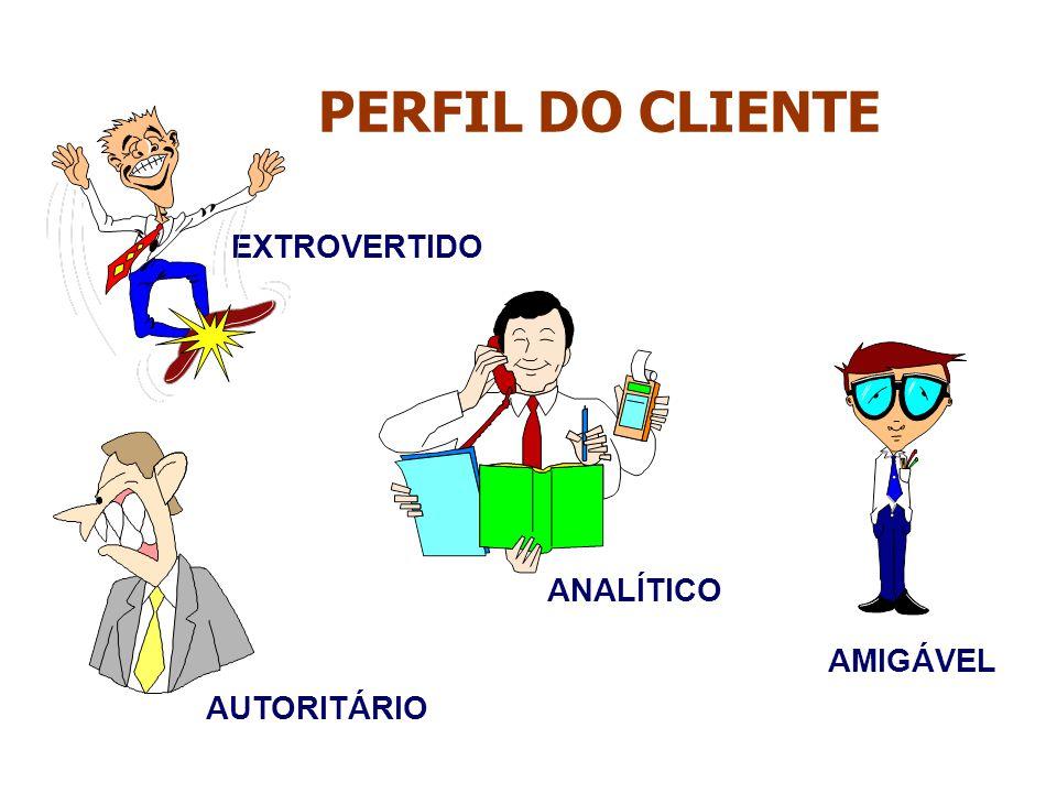 PERFIL DO CLIENTE EXTROVERTIDO ANALÍTICO AMIGÁVEL AUTORITÁRIO